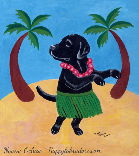 Funny Black Labrador Painting