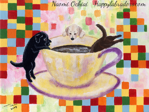 Coffee Labradors Painting