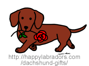 Cute Doxie Cartoon created by Naomi Ochiai