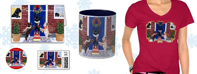 Whimsical Labrador Retriever Christmas Products
