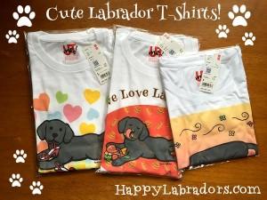 可愛いラブラドールのTシャツ by ハッピーラブラドールズ