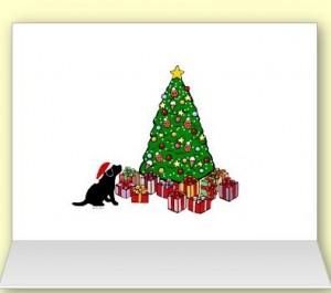 クリスマスカードの内側