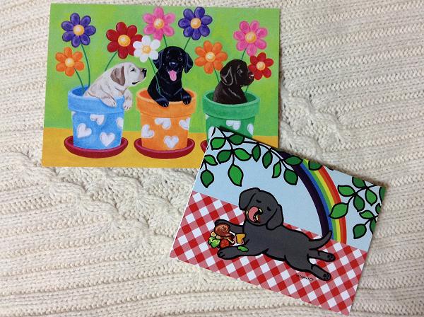 ハッピーラブラドールズで売っている二種類のカードです。