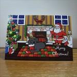 Black Labrador Cartoon Christmas Card from Zazzle