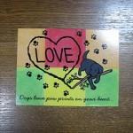 Black Labrador Cartoon Postcard from Zazzle