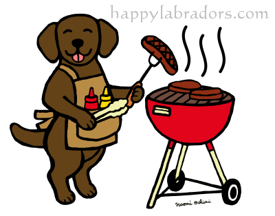 BBQ Party Chocolate Labrador Gifts by HappyLabradors.com