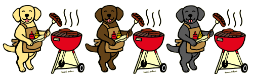 BBQ Labrador Cartoon