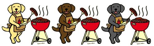 BBQ Labrador Cartoon