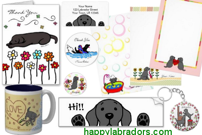 Black Labrador Cartoon Gifts by HappyLabradors.com