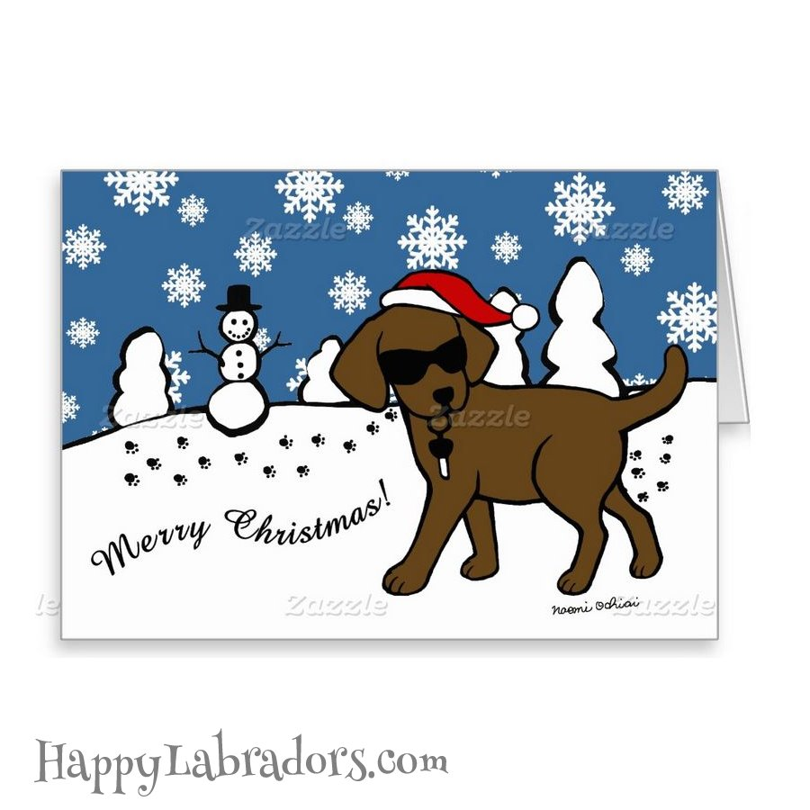 chocolate lab christmas cards – HappyLabradors.com