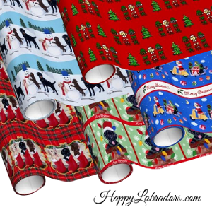 Labrador Christmas Wrapping Paper by HappyLabradors.com
