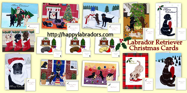 Labrador Christmas Cards by HappyLabradors.com