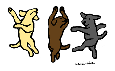 Dancing Labradors Cartoon