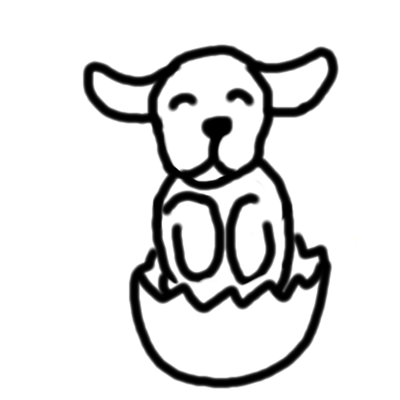 Labrador Easter Cartoon