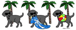 Cool Black Labradors Cartoon Gifts