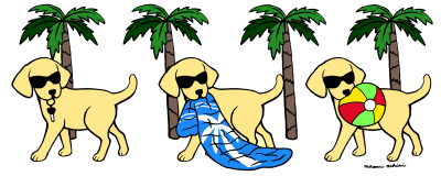 Yellow Labrador Cartoon created by Naomi Ochiai