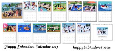 Happy Labradors Calendar 2015