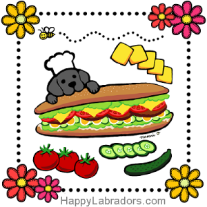Black Labrador Bakery Cartoon Gifts by HappyLabradors.com