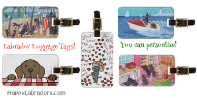 Personalized Labrador Luggage Tags