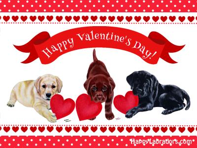 Labrador Valentine's Day Card by HappyLabradors.com