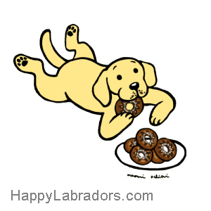 Yellow Labrador Doughnuts Cartoon Gifts