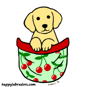 Cute Yellow Labrador Puppy Design by Naomi Ochiai
