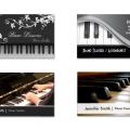 ピアノ教室、ピアノの先生、音楽の名刺