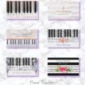 おしゃれなピアノ教師の名刺 by 可愛い名刺屋さん