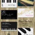 音楽教室とピアノの先生の名刺 by 可愛い名刺屋さん