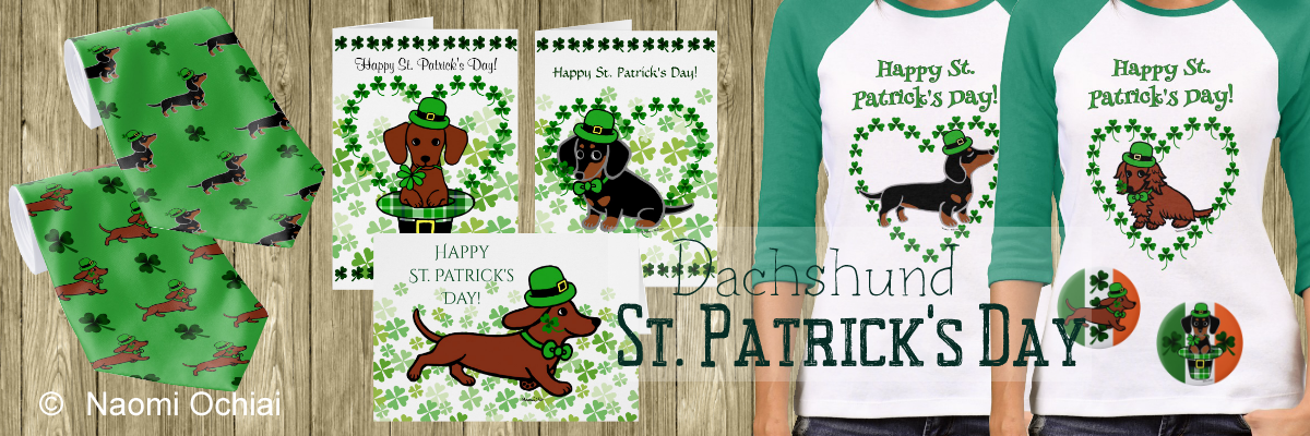 St. Patrick's Day T-shirts and Gifts by HappyDachshundArt in Zazzle