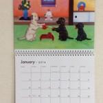 ラブラドールのカレンダーです