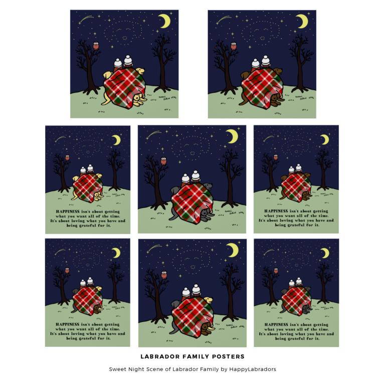 ラブラドール家族のプリント(ポスター) by ハッピーラブラドールズ