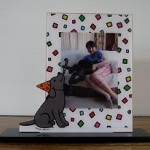 Black Labrador Birthday Photo Stand from Zazzle