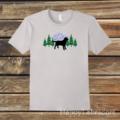 Black Labrador Evergreen T-shirt by HappyLabradors