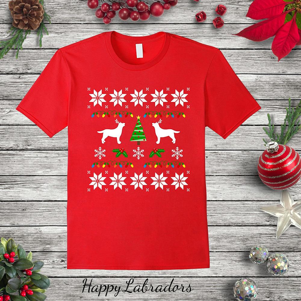 Labrador Retriever Christmas Reindeer T-shirt @amazon