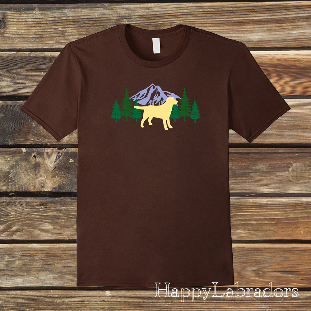 Yellow Labrador Evergreen T-shirts by HappyLabradors in Amazon