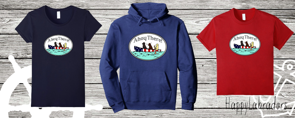 Canoeing Labradors T-shirts and Hoodies by Happylabradors in Amazon