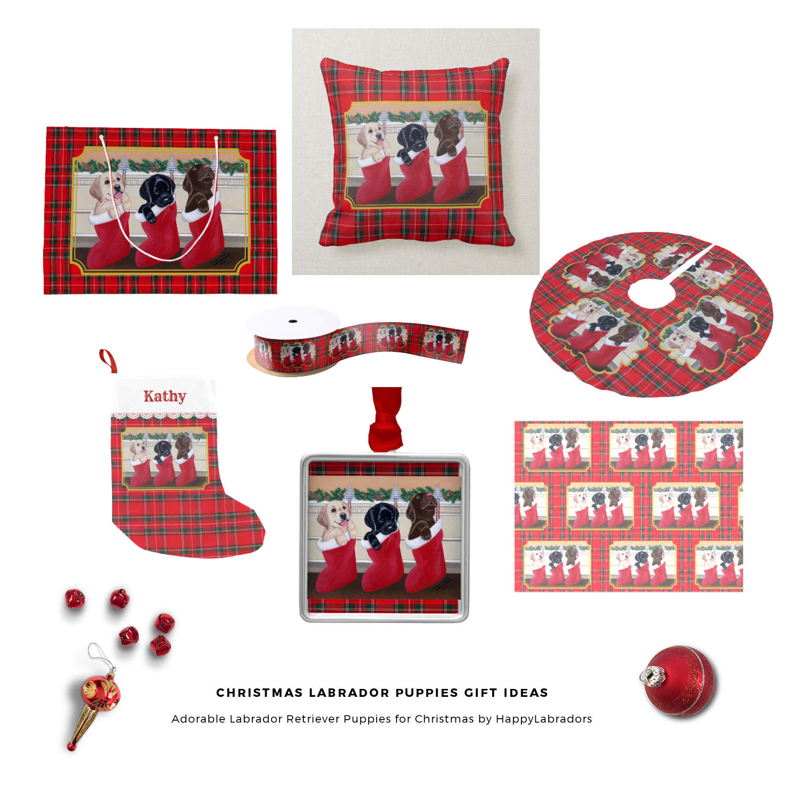 Christmas Labrador Retriever Puppies Gift Collection by HappyLabradors @zazzle