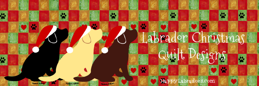 Labrador Christmas Quilt Designs by HappyLabradors