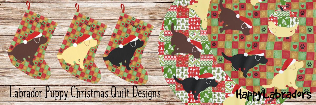Labrador Christmas Quilt Design Collection in Zazzle