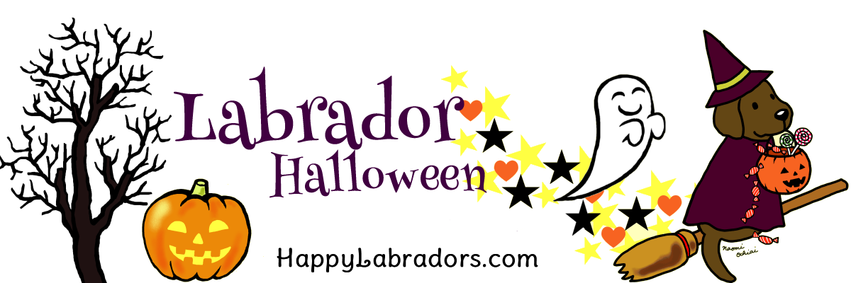 Labrador Retriever Halloween Greeting Cards by HappyLabradors