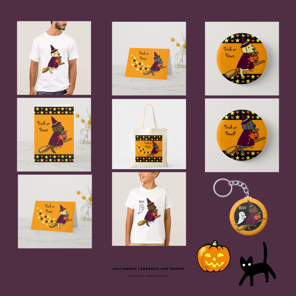 Halloween Labrador Retriever and Bloom Collection by HappyLabradors