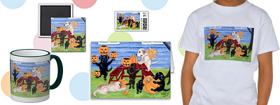 Halloween Pumpkin Carving Labradors Artwork and Gifts