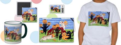 Halloween Pumpkin Carving Labradors Gifts by HappyLabradors.com