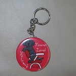 Black Labrador Cartoon Keychain from Zazzle