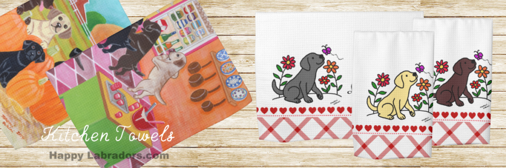 Labrador Kitchen Towel Collection by HappyLabradors