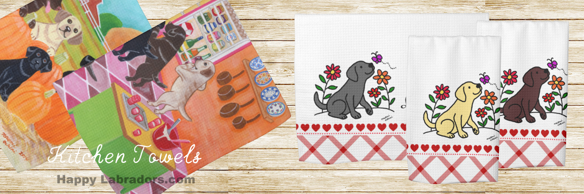 Labrador Retriever Kitchen Towel Collection @zazzle