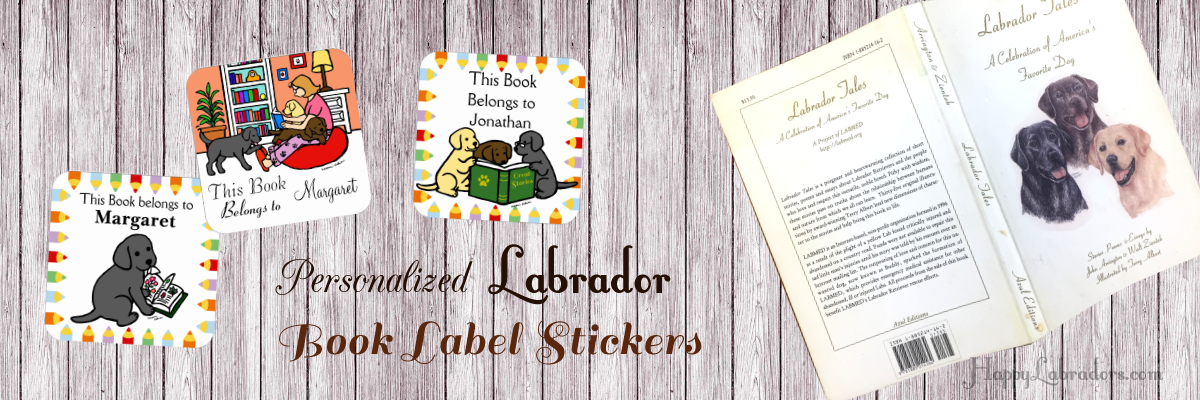 Labrador Retriever Book Labels (Stickers) Collection by HappyLabradors @zazzle