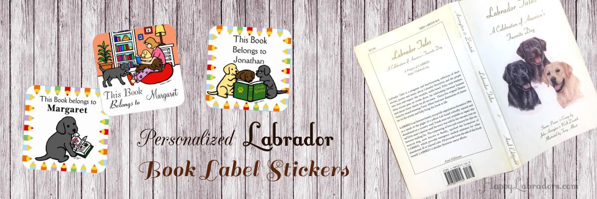 Labrador Retriever Book Labels (Stickers) Collection by HappyLabradors @zazzle
