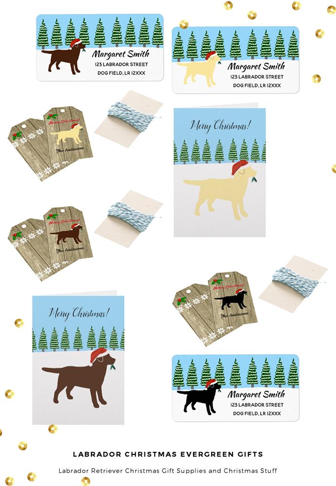 Labrador Retriever Christmas Evergreen Gift Supplies @zazzle